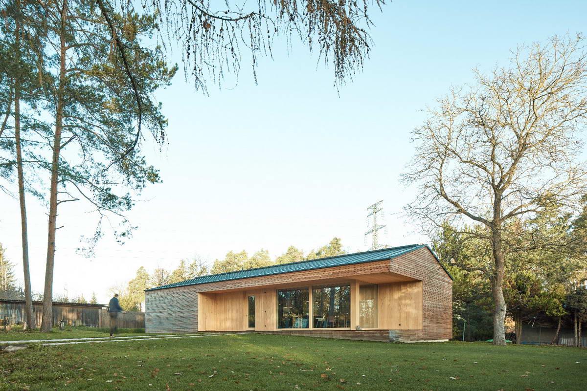 Пассивный деревянный дом для молодой семьи в Чехии