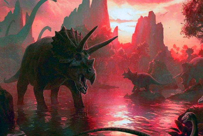 Первые минуты после падения метеорита во времена динозавров