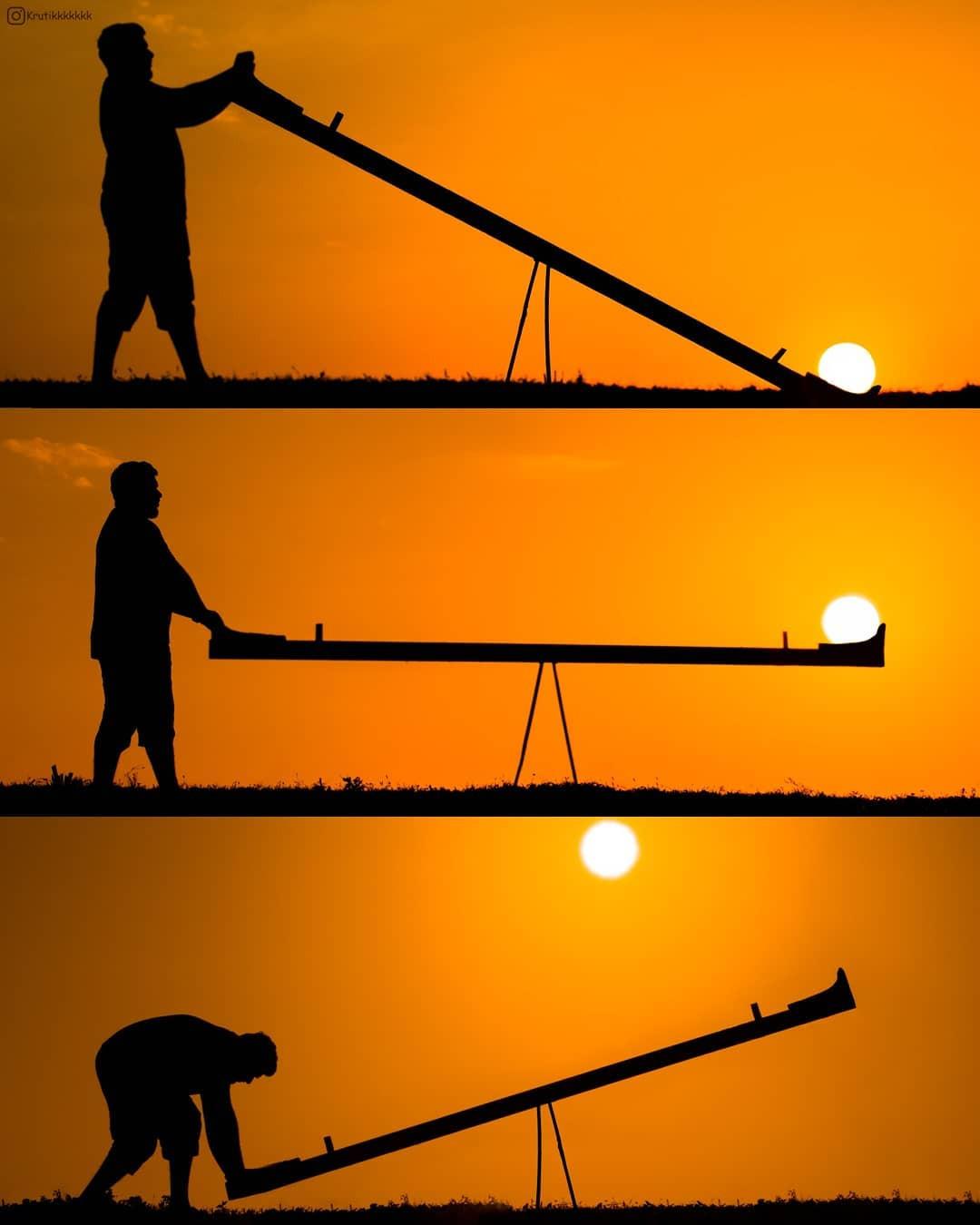 Захватывающие фотографии с силуэтами на закате