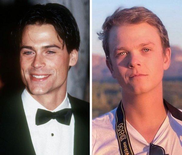Голливудские знаменитости и их дети в одном возрасте на снимках