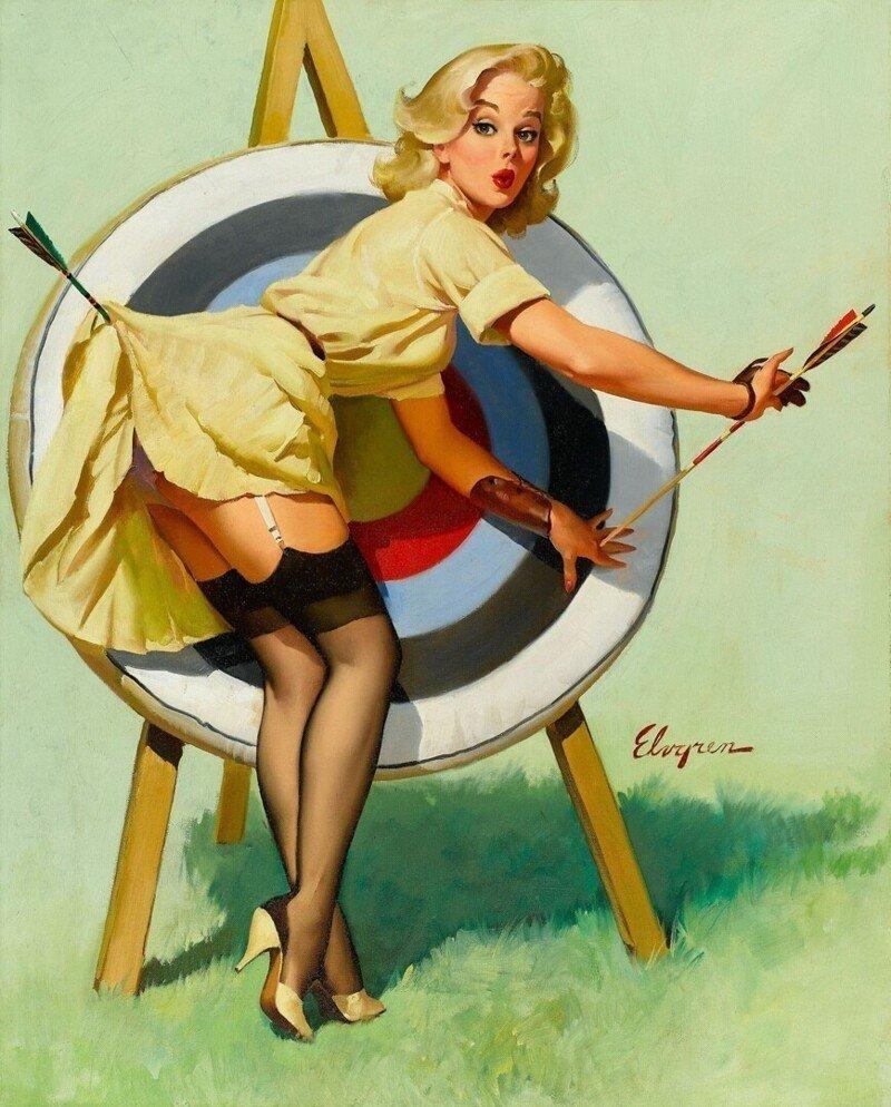 Яркие pin-up работы от художника Джила Элвгрена