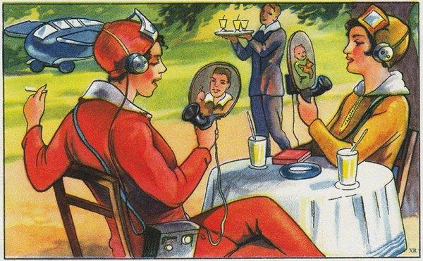 Каким видели будущее на интересных рисунках из XX века