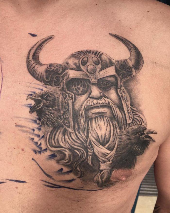 Татуировки для любителей викингов и скандинавской мифологии