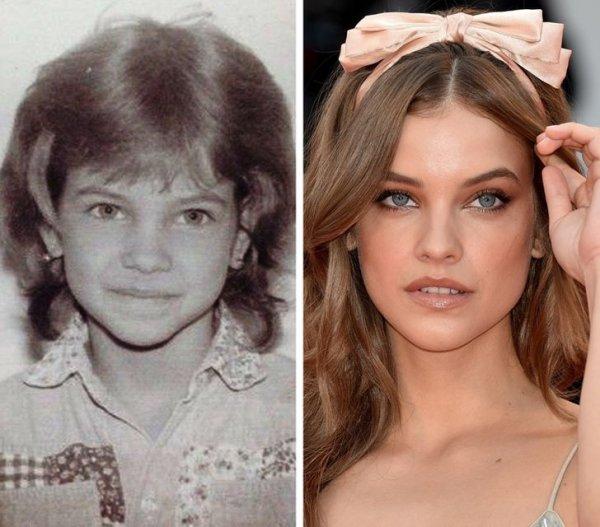 Всемирно известные топ-модели в детстве на снимках