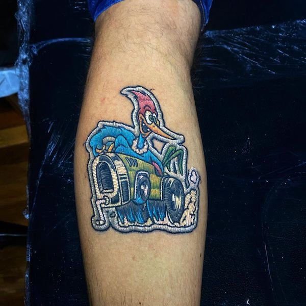 Татуировки Дуды Лозано трудно отличить от настоящей вышивки