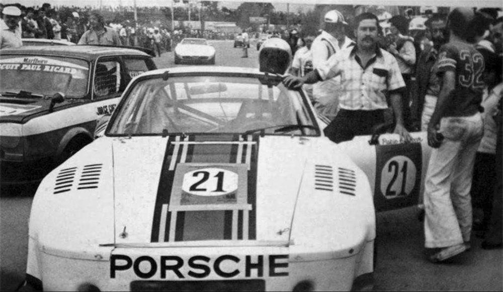 Porsche 1974 года, на котором участвовал в гонках Пабло Эскобар