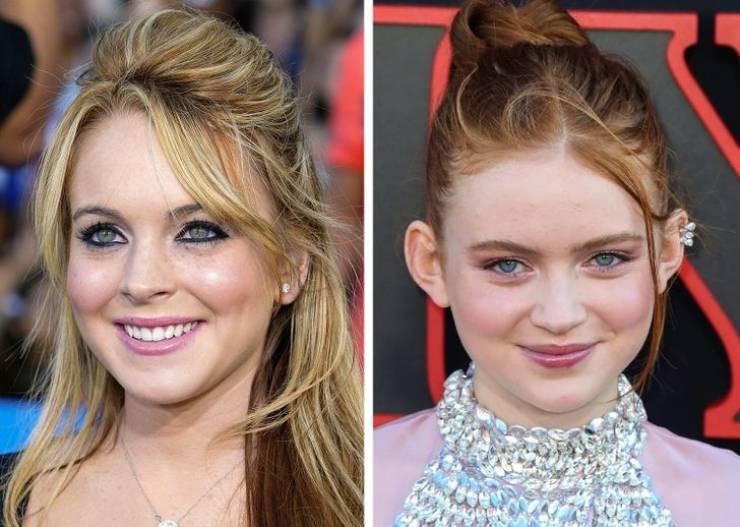 Голливудские знаменитости разных поколений в одинаковом возрасте