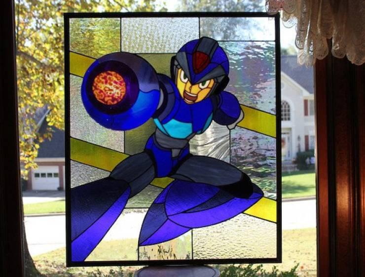 Витражные стекла для фанатов видеоигр, комиксов и научной фантастики