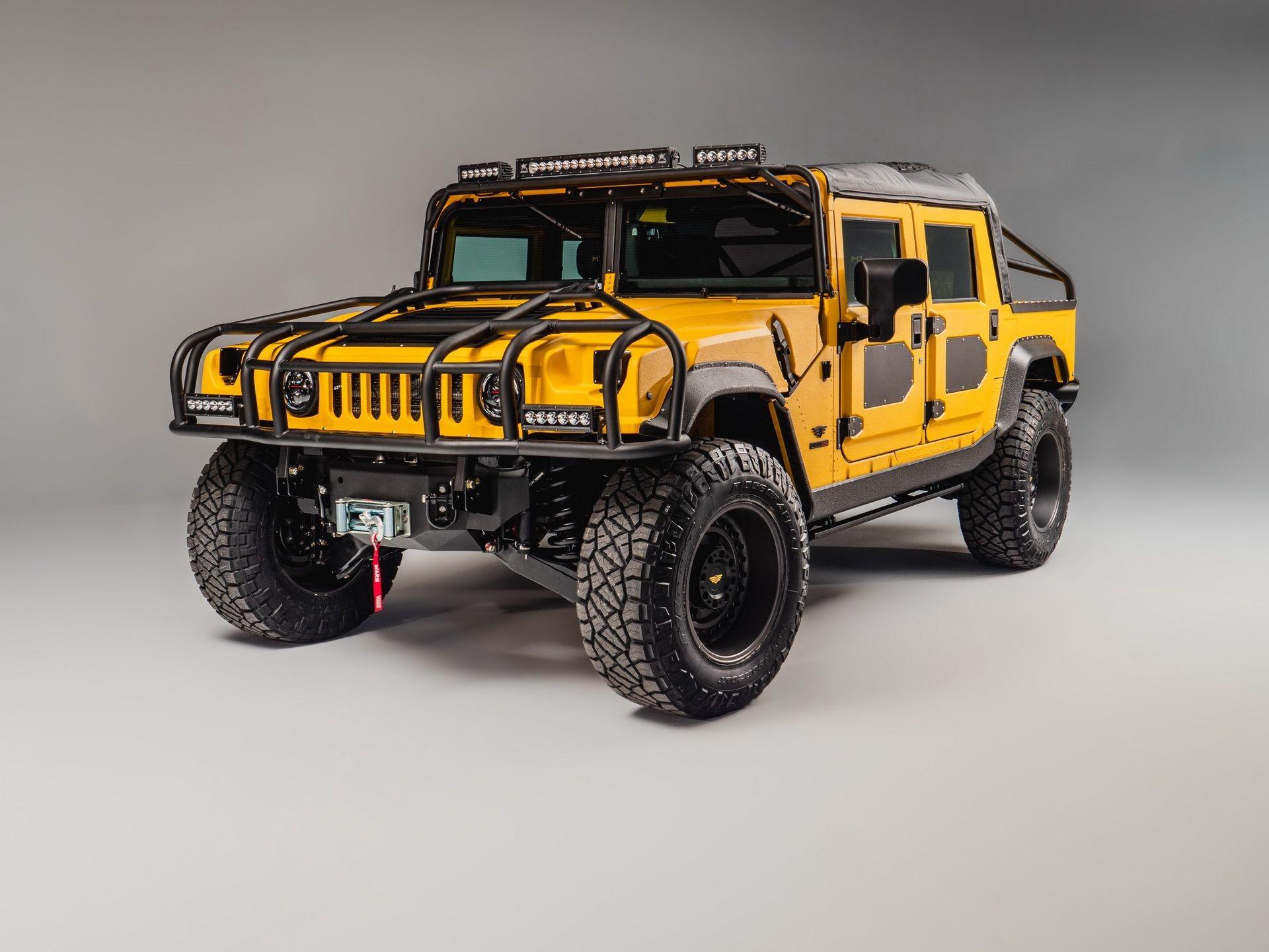 Ярко-желтый Hummer M1-R от Mil-Spec мощностью 800 лошадиных сил