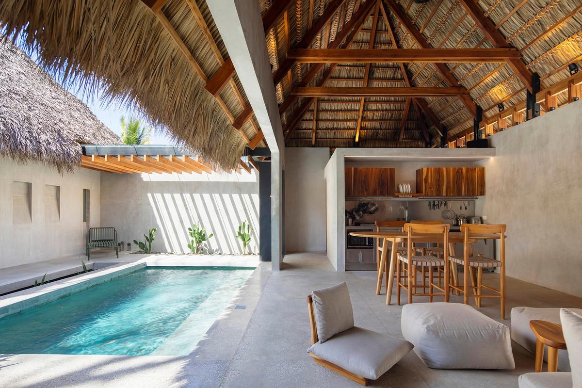Чайный домик на берегу Тихого океана в Коста-Рике