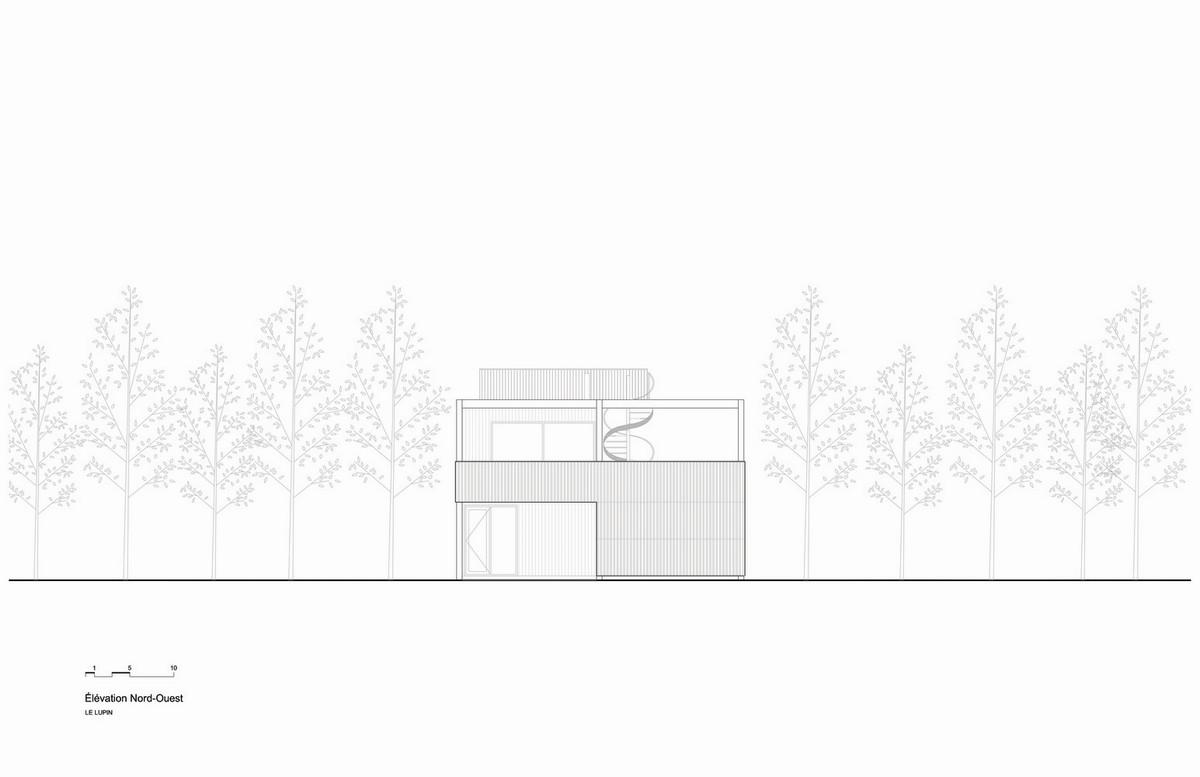Современный семейный дом с необычной геометрией в Канаде