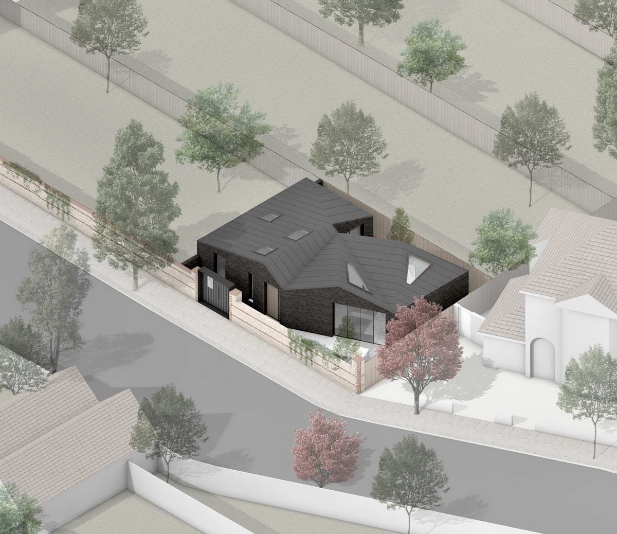 Компактный кирпичный дом в западной части Лондона