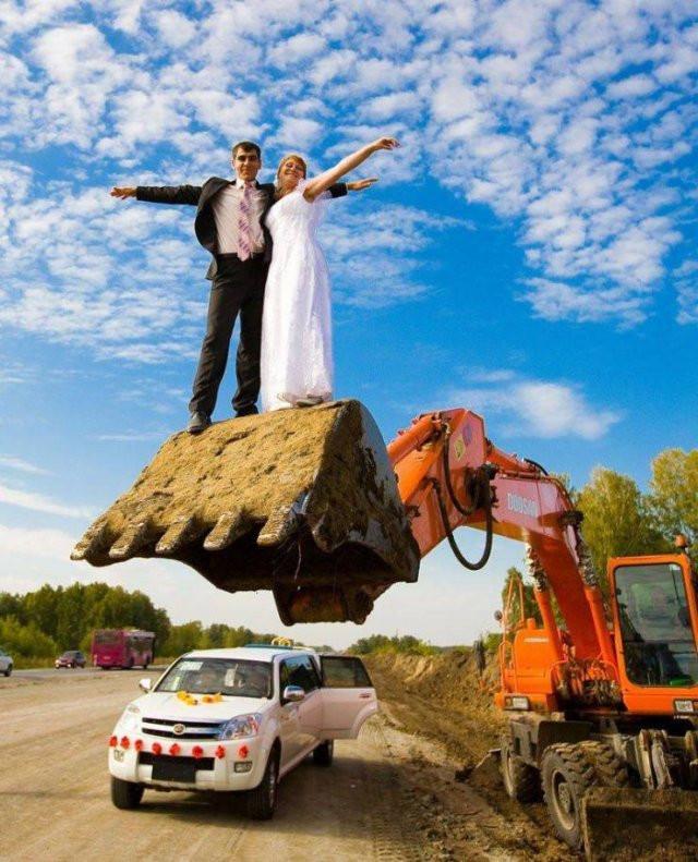 Прикольные и странные свадебные фотографии