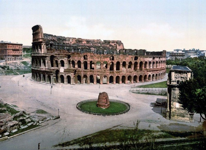 Редкие раскрашенные снимки Рима 1890-х годов
