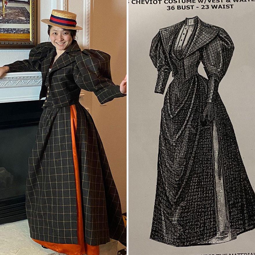 Анестезиолог после работы создаёт удивительные старинные наряды