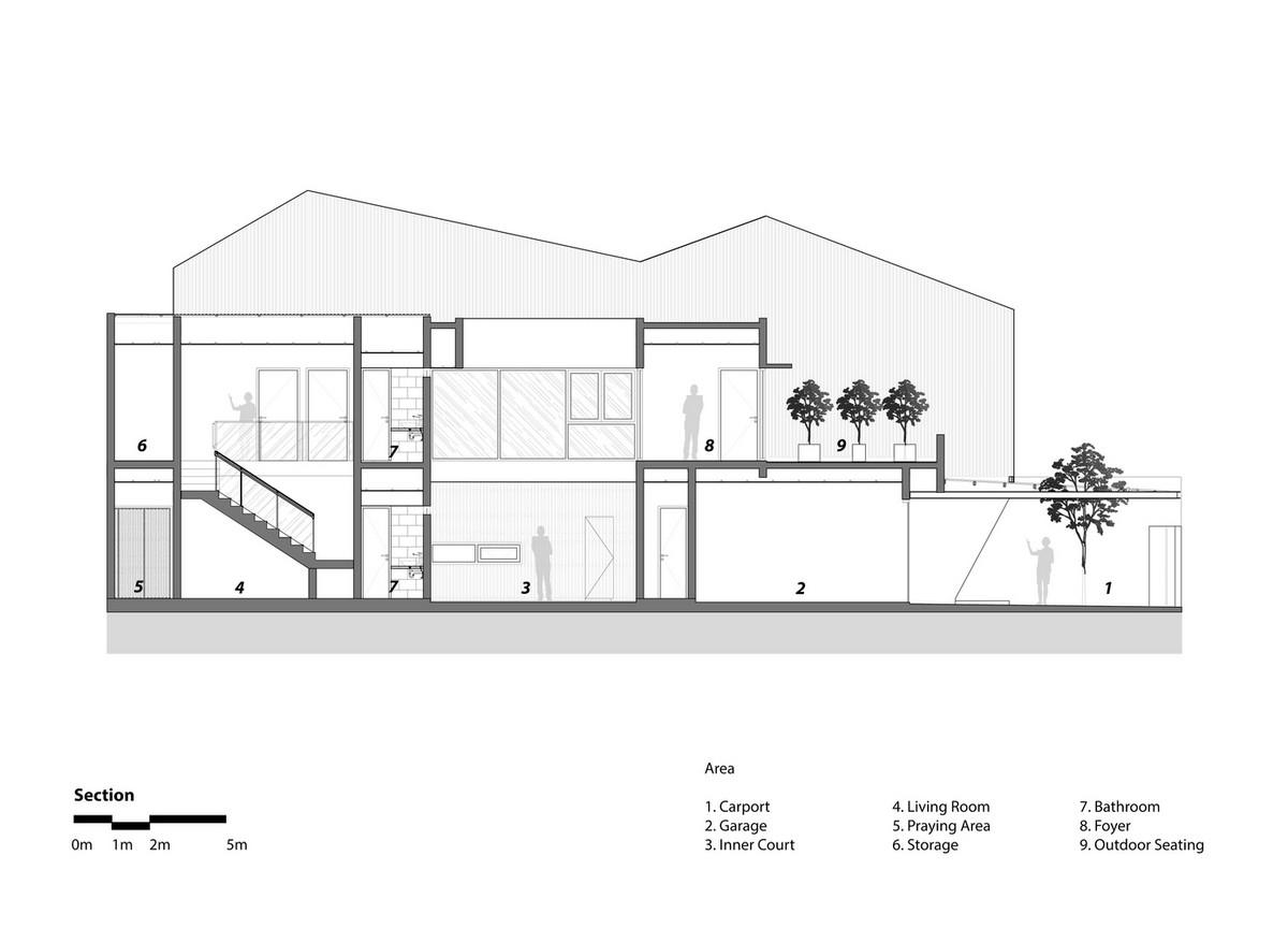 Двухэтажный семейный дом в городе Джакарта