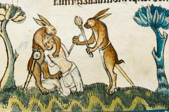 Почему зайцы убивают рыцарей на средневековых рисунках?