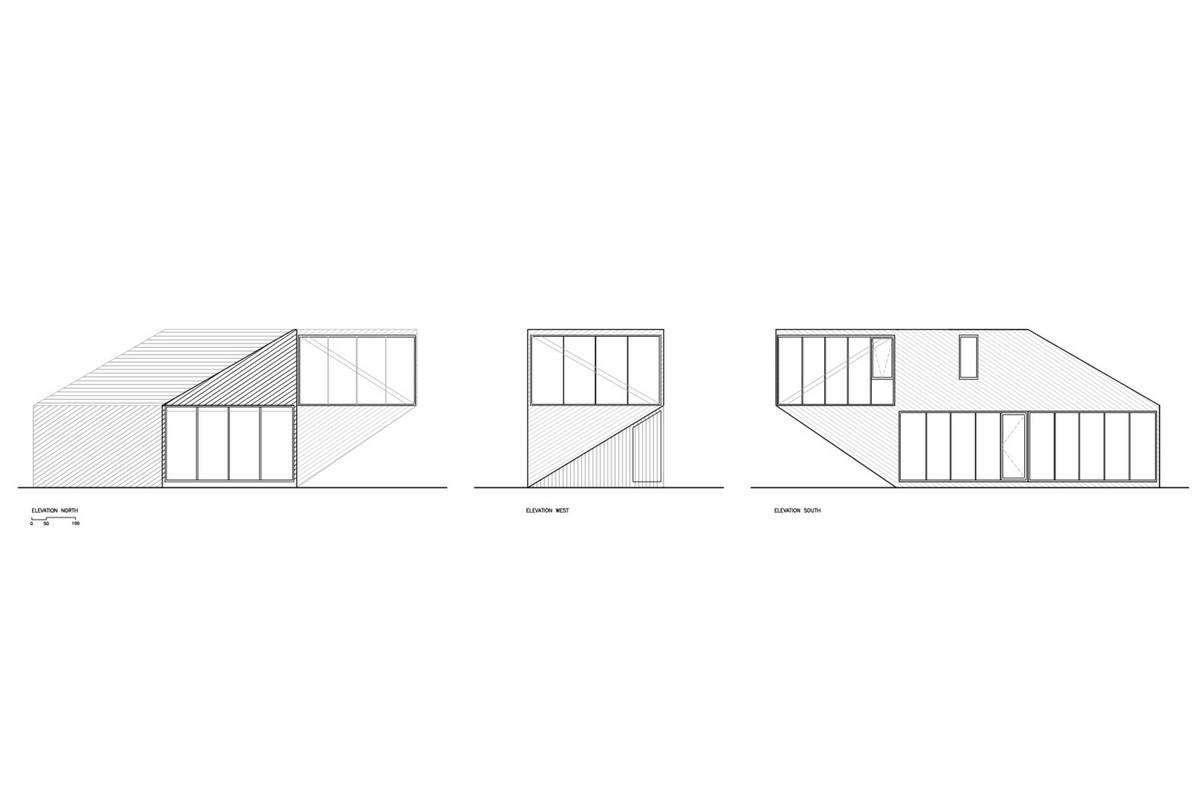 Стильный дом с угловым консольным этажом в Чили Картинки и фото