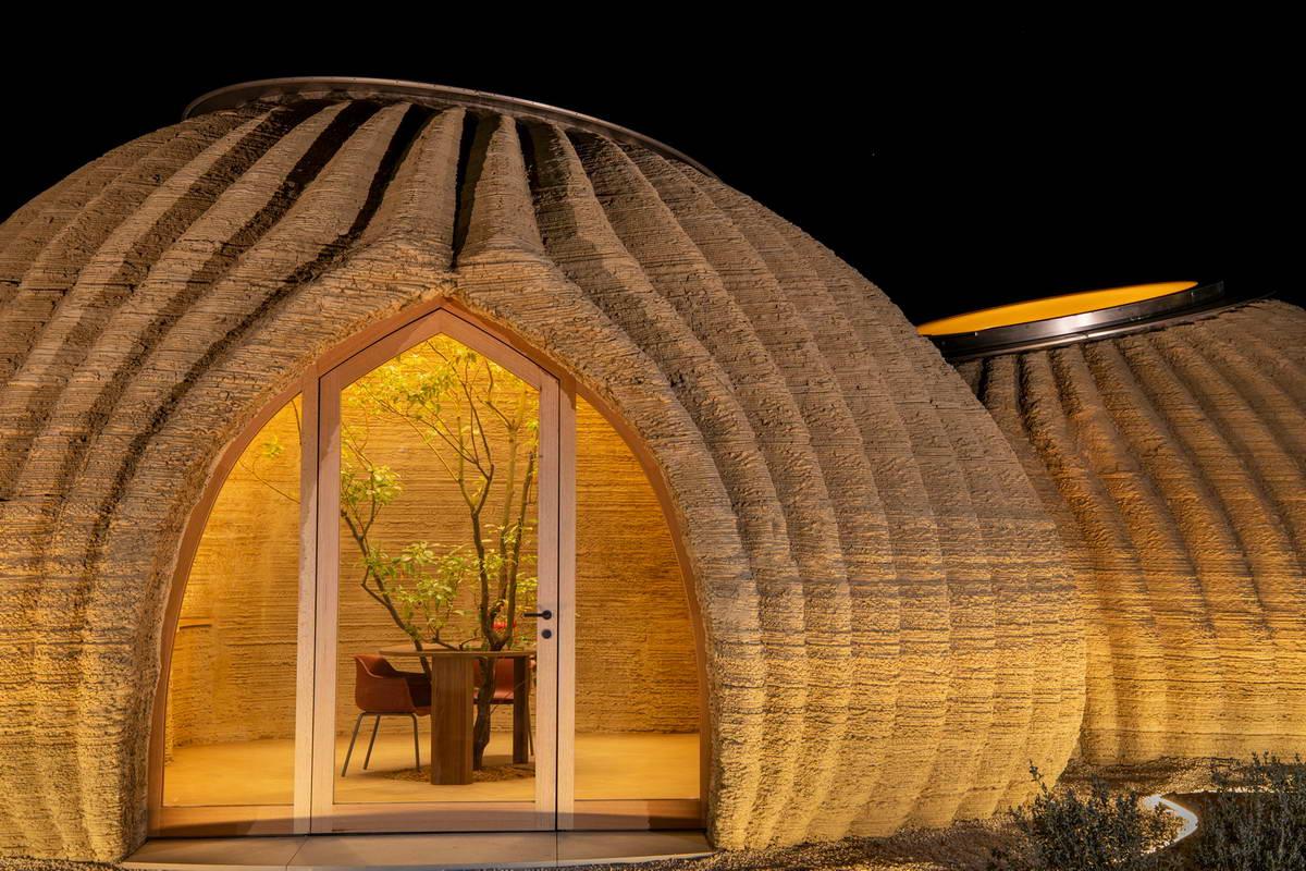 Напечатанный на 3D-принтере дом из глины в Италии