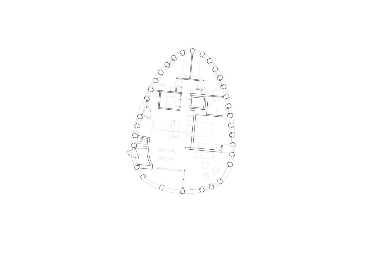 Жилой дом округлой формы в Швейцарии