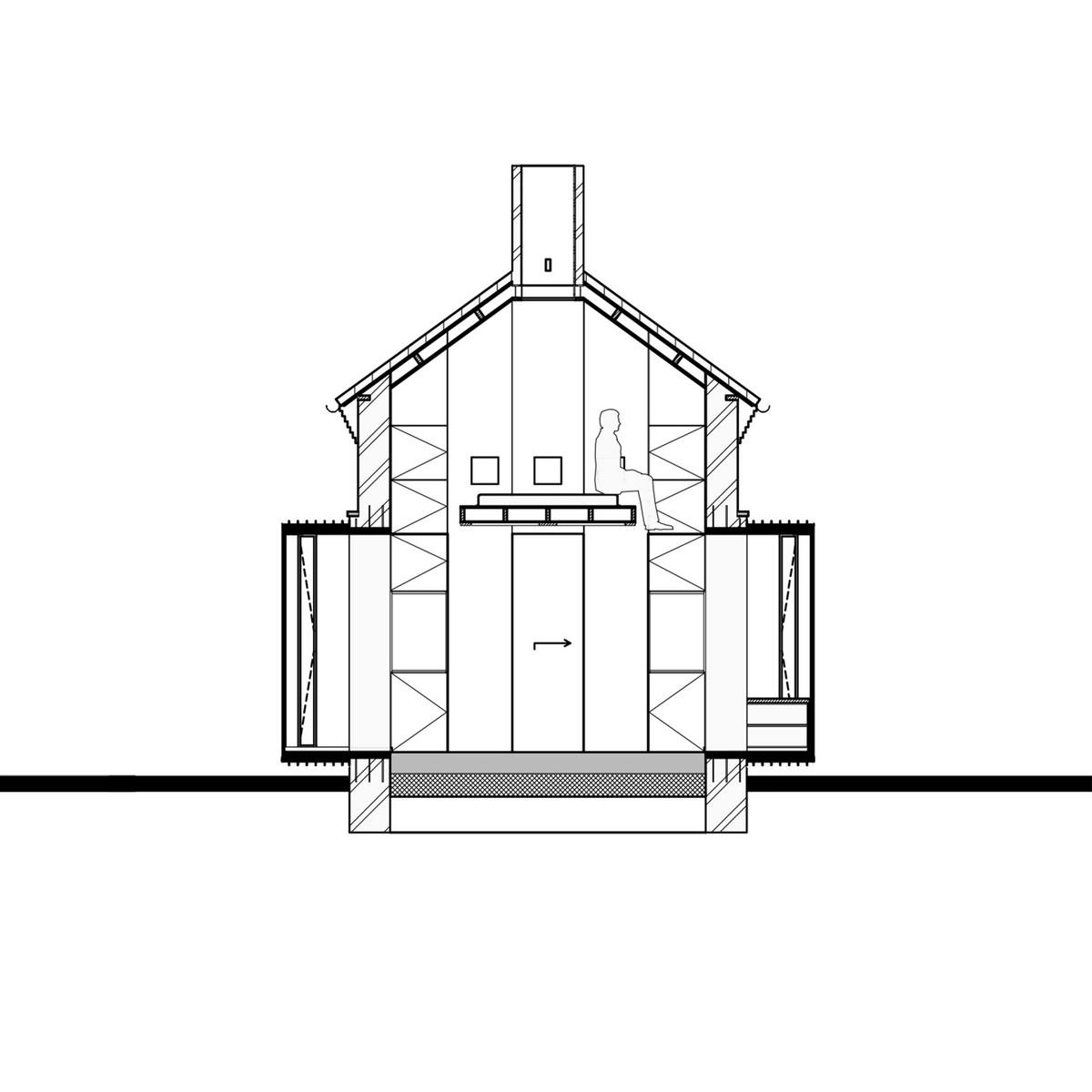 Реконструкция старой трансформаторной будки в хижину для туристов