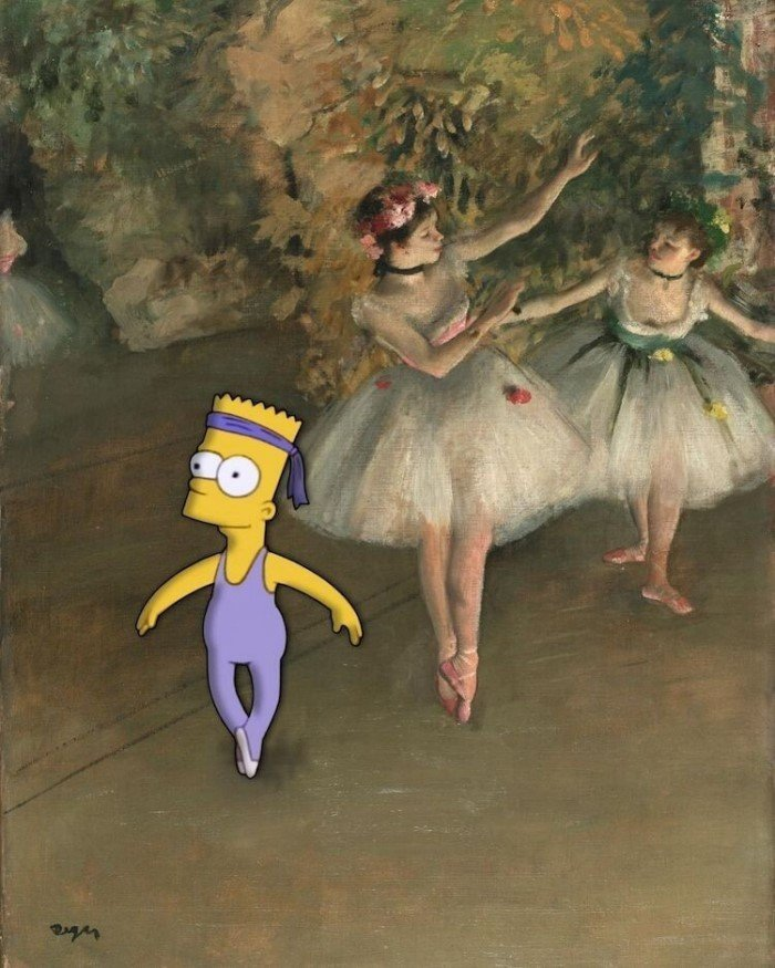 Поклонник мультсериала Симпсоны переосмысливает классические полотна
