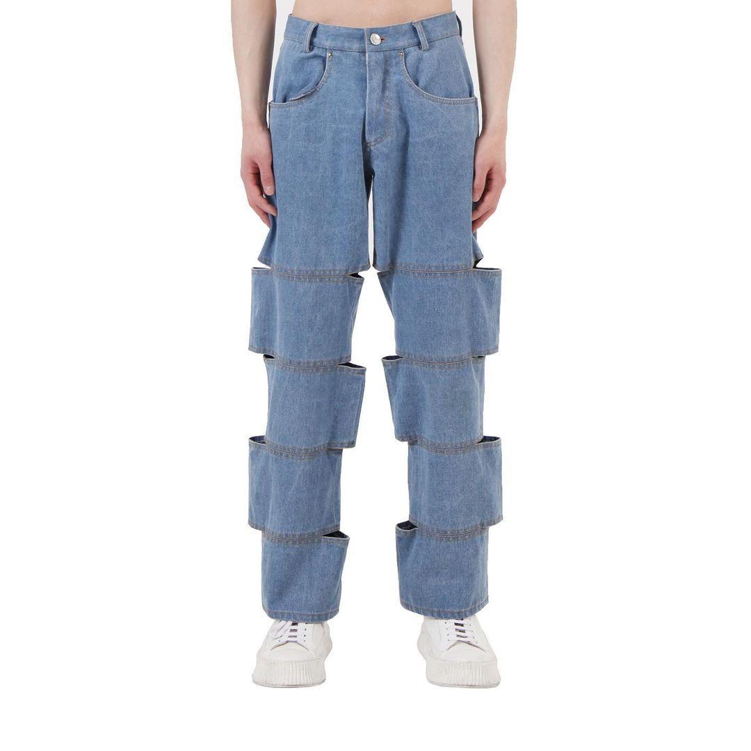 Разрезанные джинсы от южнокорейского бренда, сбивающие с толку