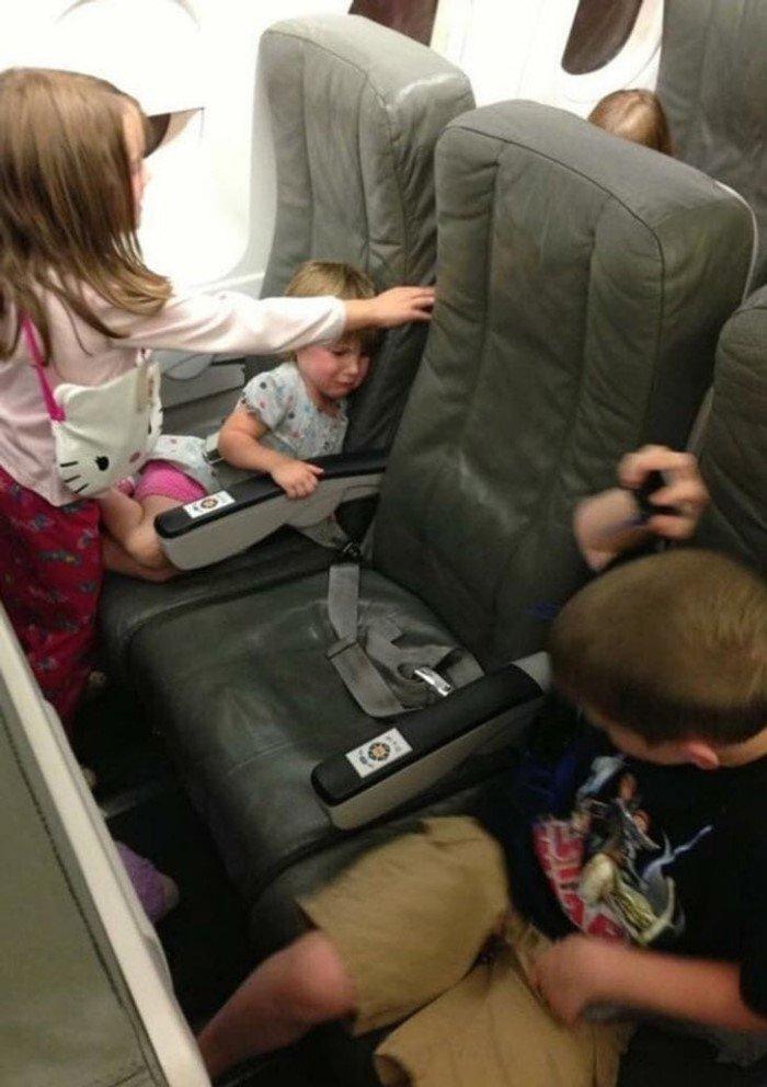 Чего только не происходит на борту самолёта
