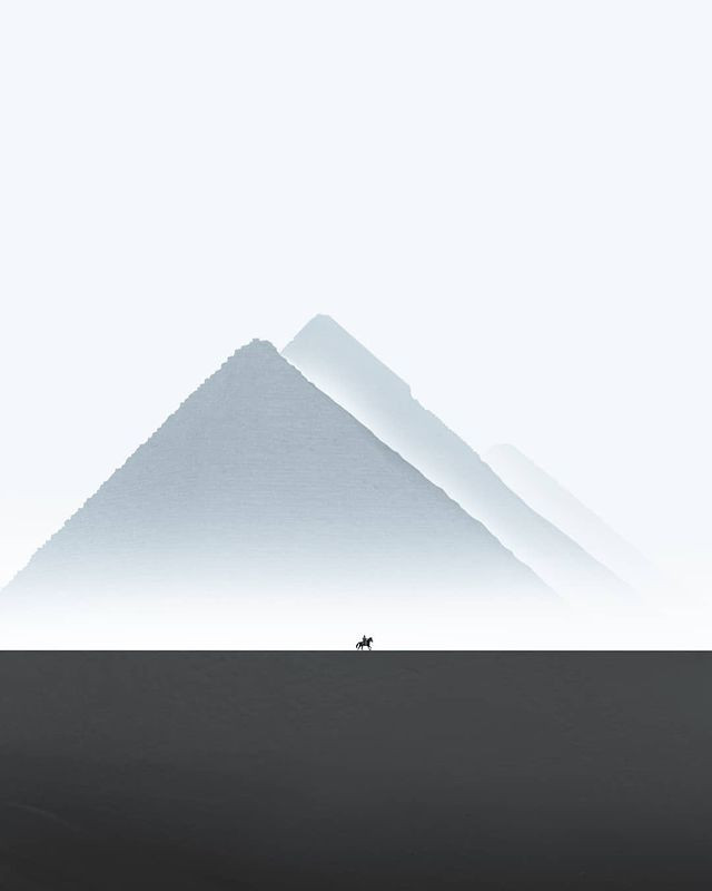 Знаменитые пирамиды Гизы на захватывающих снимках
