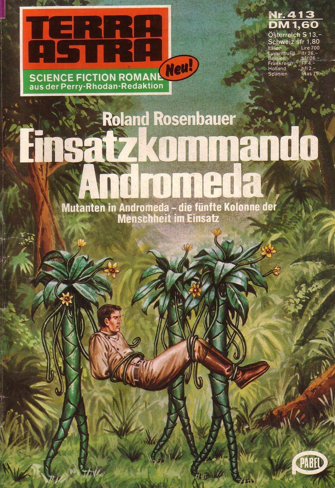 Космические монстры на обложках немецкого Sci-fi журнала Terra