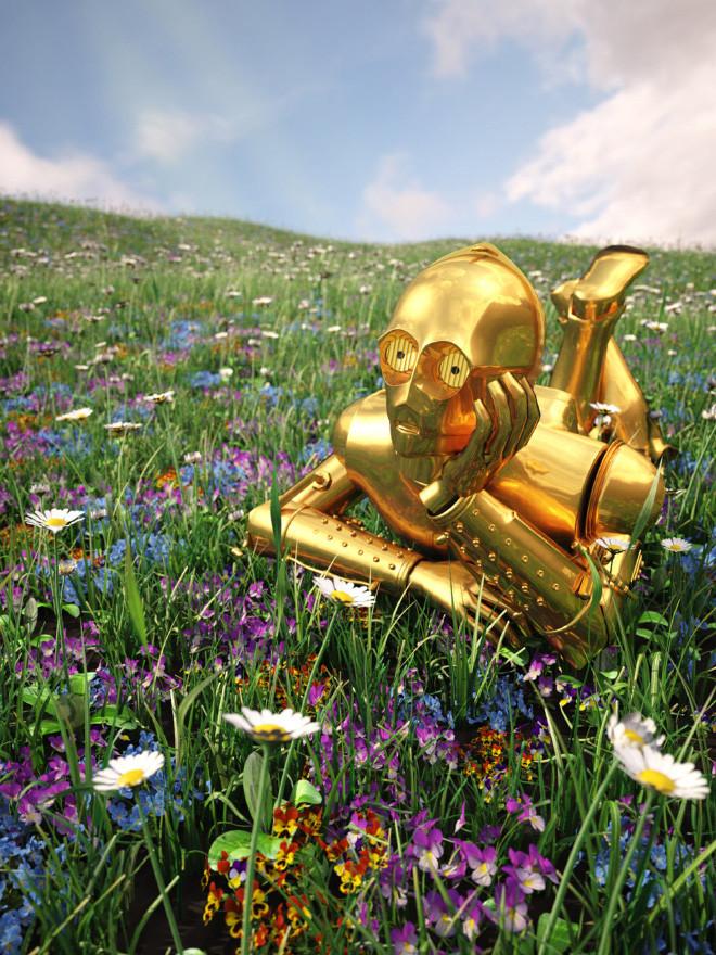Странные арт-принты от Кайла Хейджи с персонажами Звёздных войн