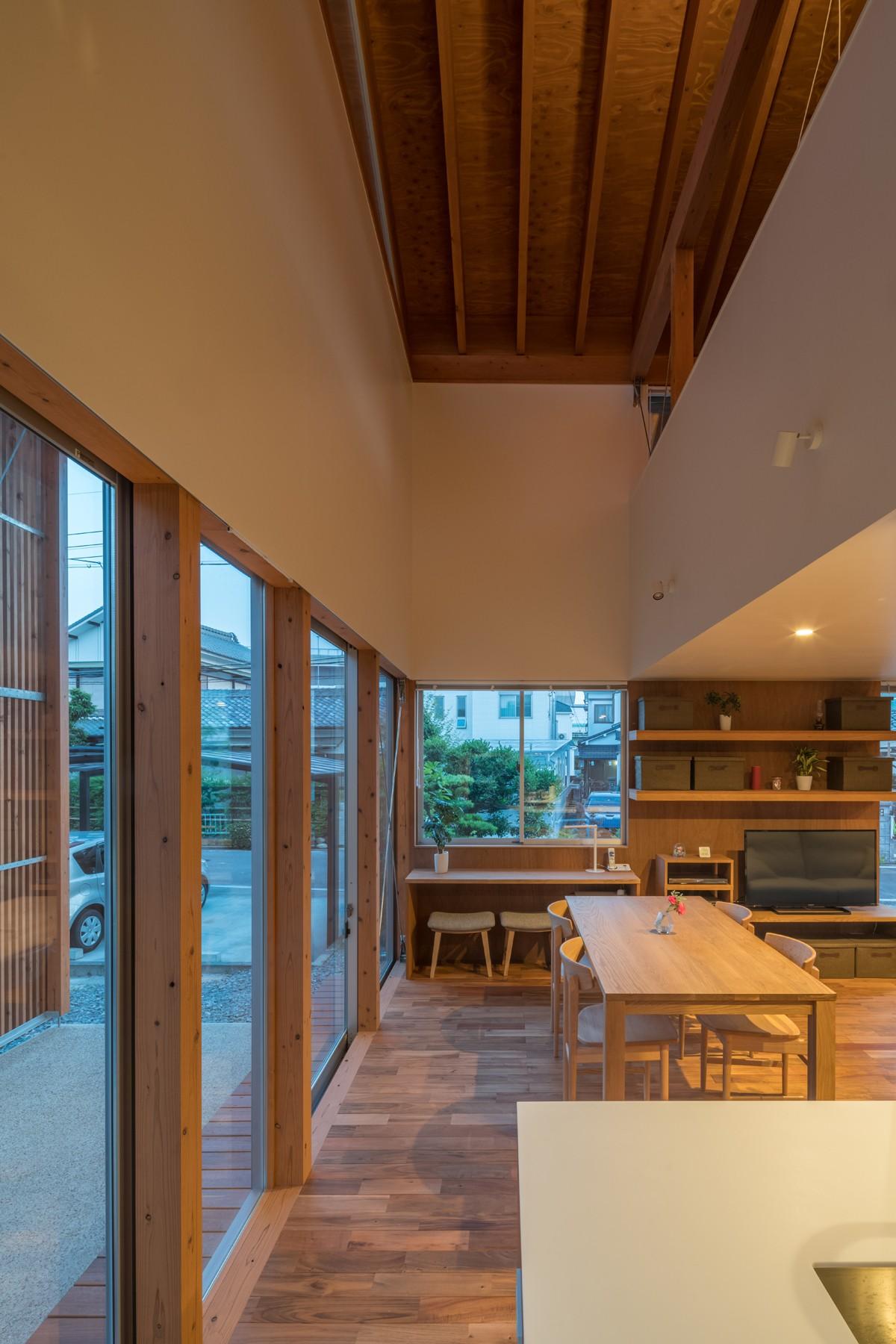 Уютный семейный дом с Тори-мичи в Японии