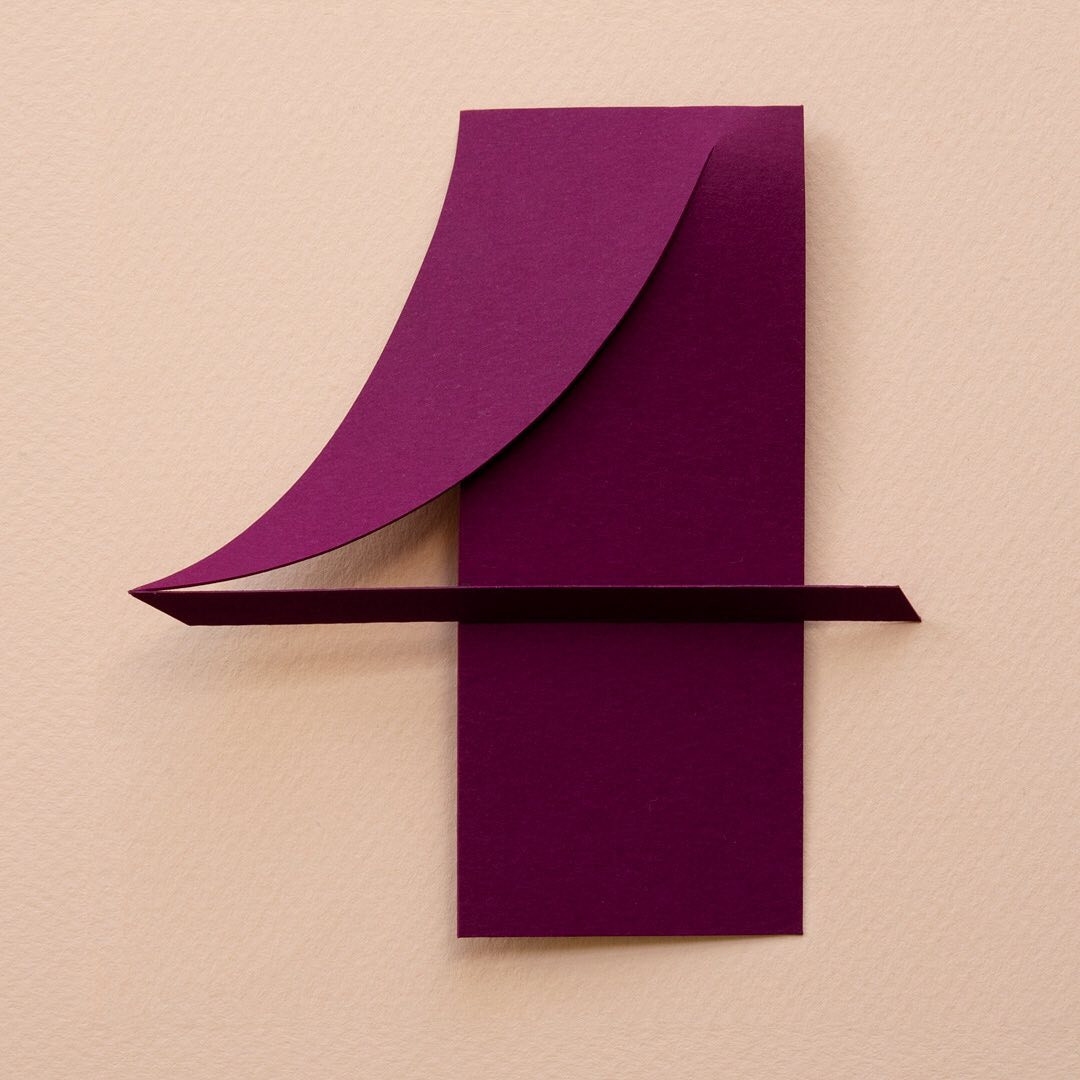 Бумажная коллекция цифр и букв английского алфавита от Рейны Такахаси