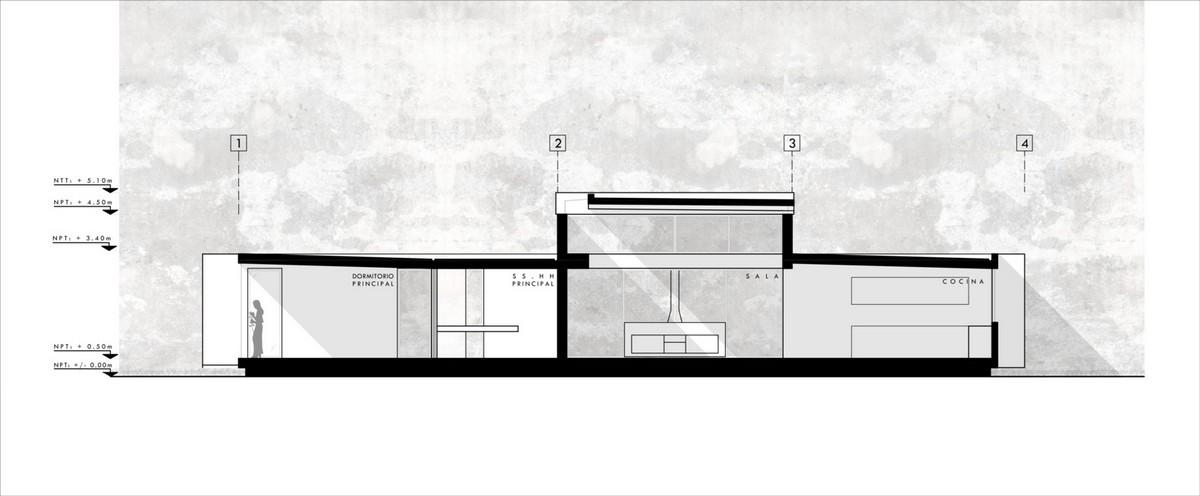 Семейный белый дом с открытыми балками в Перу