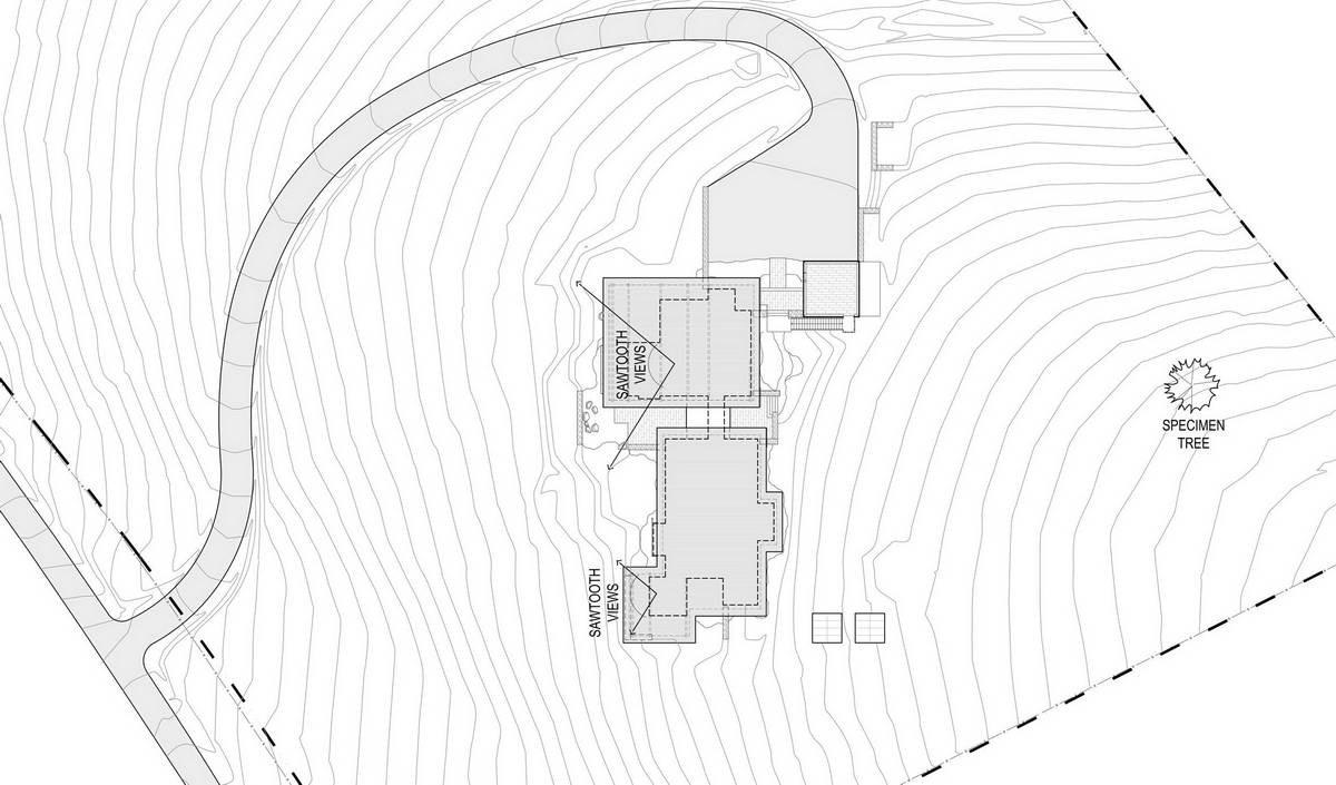 Современная резиденция в Скалистых горах Айдахо
