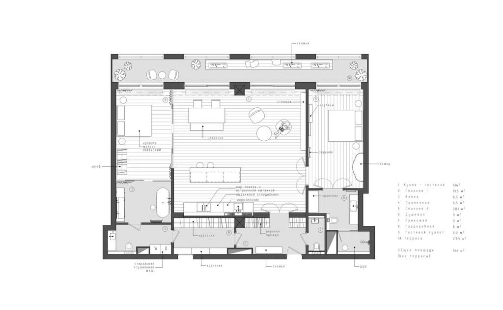 Реконструкция квартиры в историческом центре Санкт-Петербурга