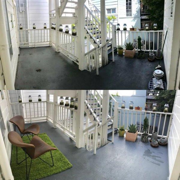 Снимки вещей и мест, сделанные до и после чистки