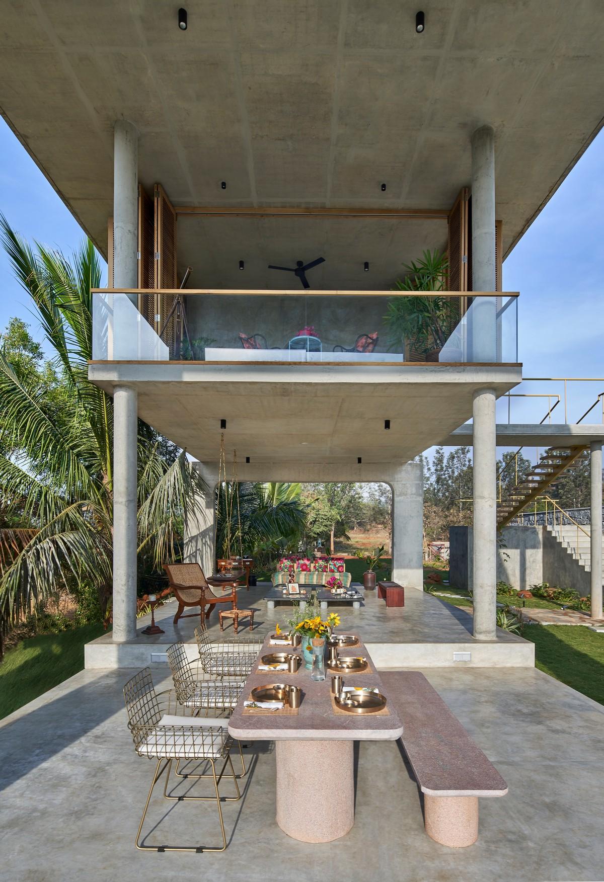Загородный дом-курорт с павильоном в Индии