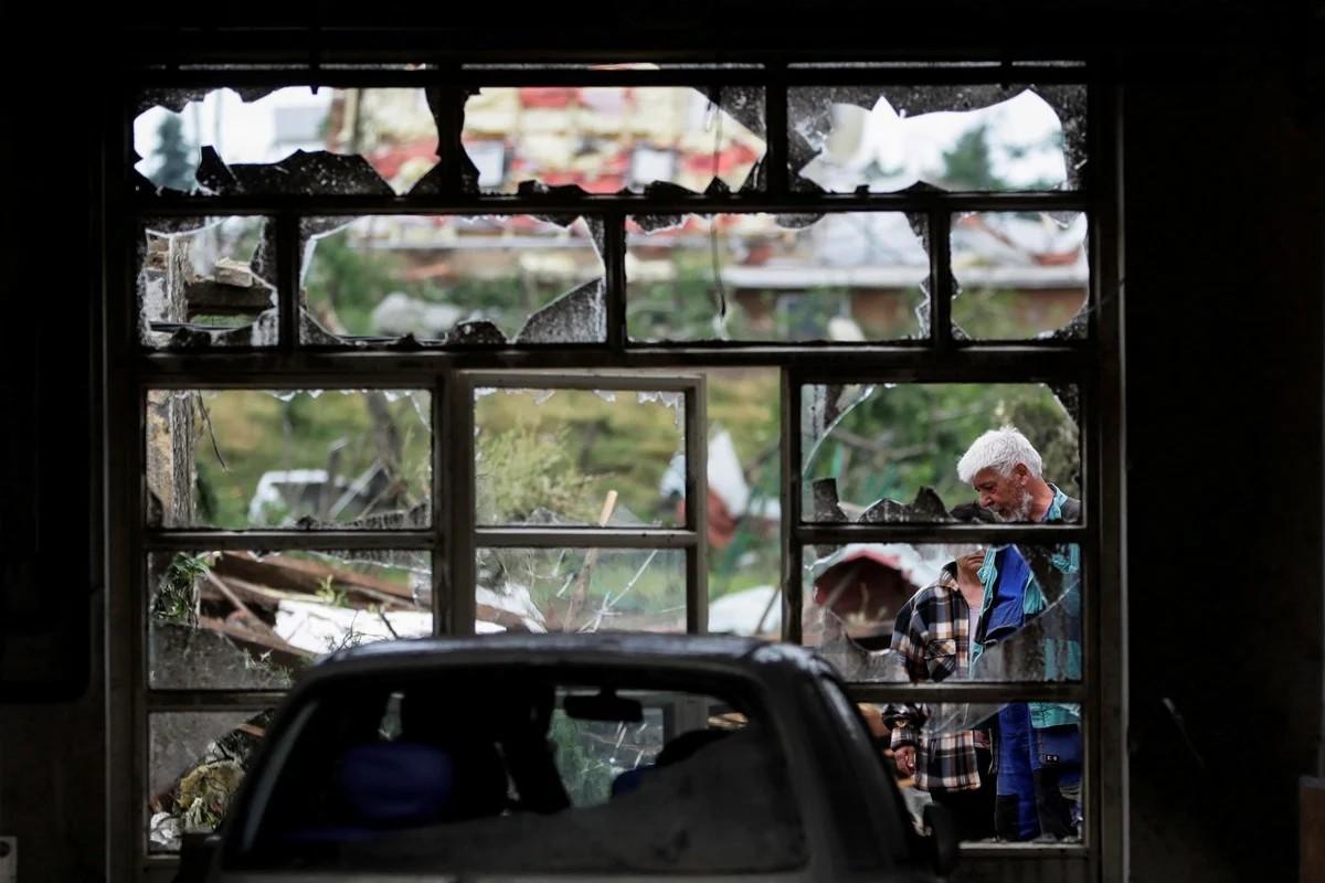 Последствия мощного торнадо на юге Чехии