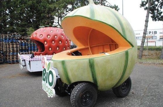 Прикольный транспорт, вдохновлённый едой