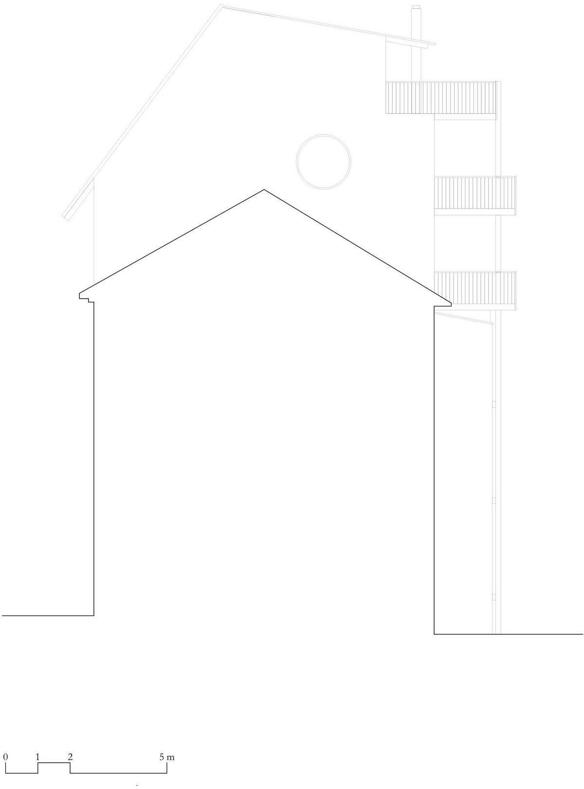 Семейная квартира как пристройка к крыше старинного дома в Швейцарии