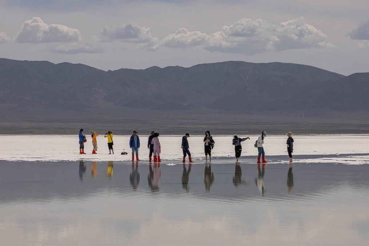 Соленое озеро Чака в Китае
