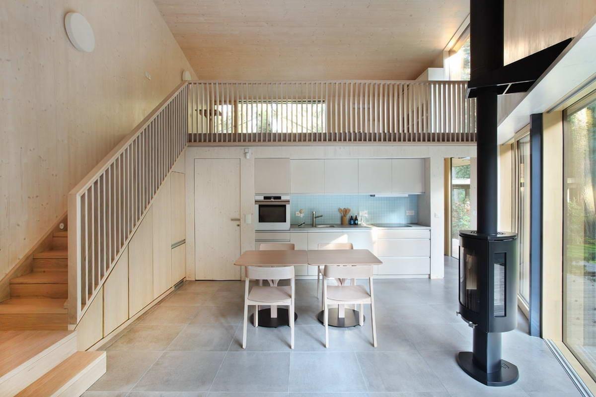 Деревянный дом-студия в Чехии