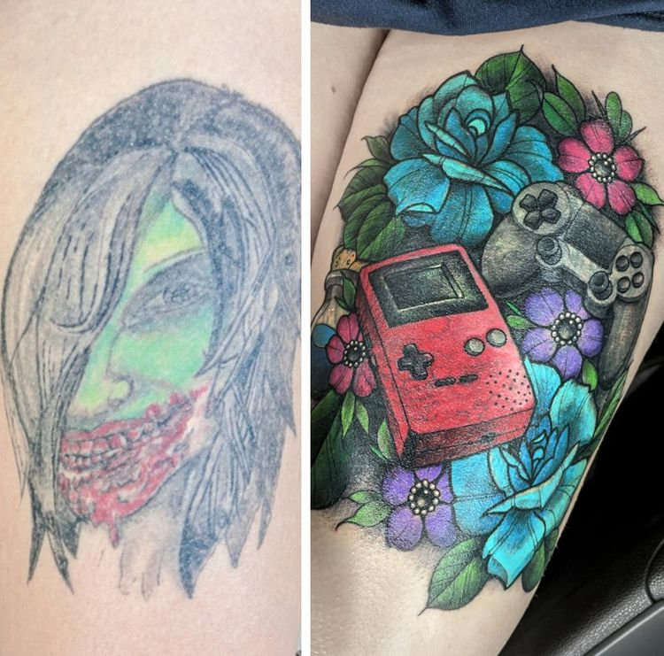 Неудачные татуировки, которые были исправлены умелыми мастерами