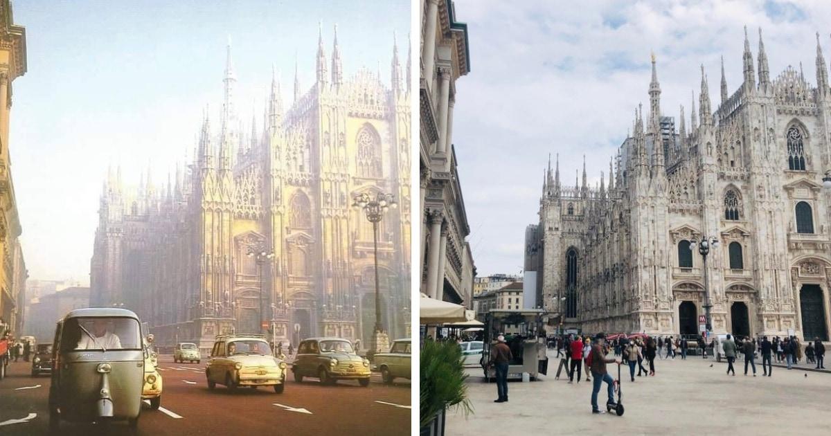 Знаменитые места на снимках в прошлом и сейчас