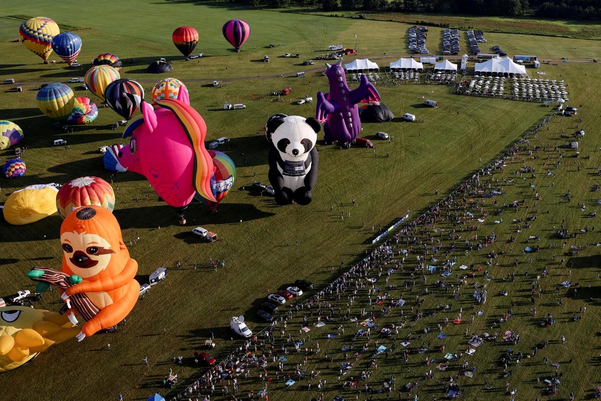 Фестиваль воздушных шаров в штате Нью-Джерси