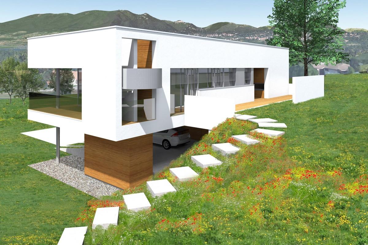 Минималистский деревянный загородный дом в Италии