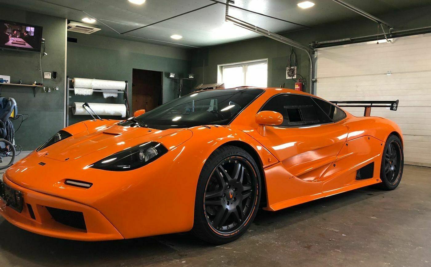 Неплохая реплика McLaren F1, созданная на базе Porsche Boxster