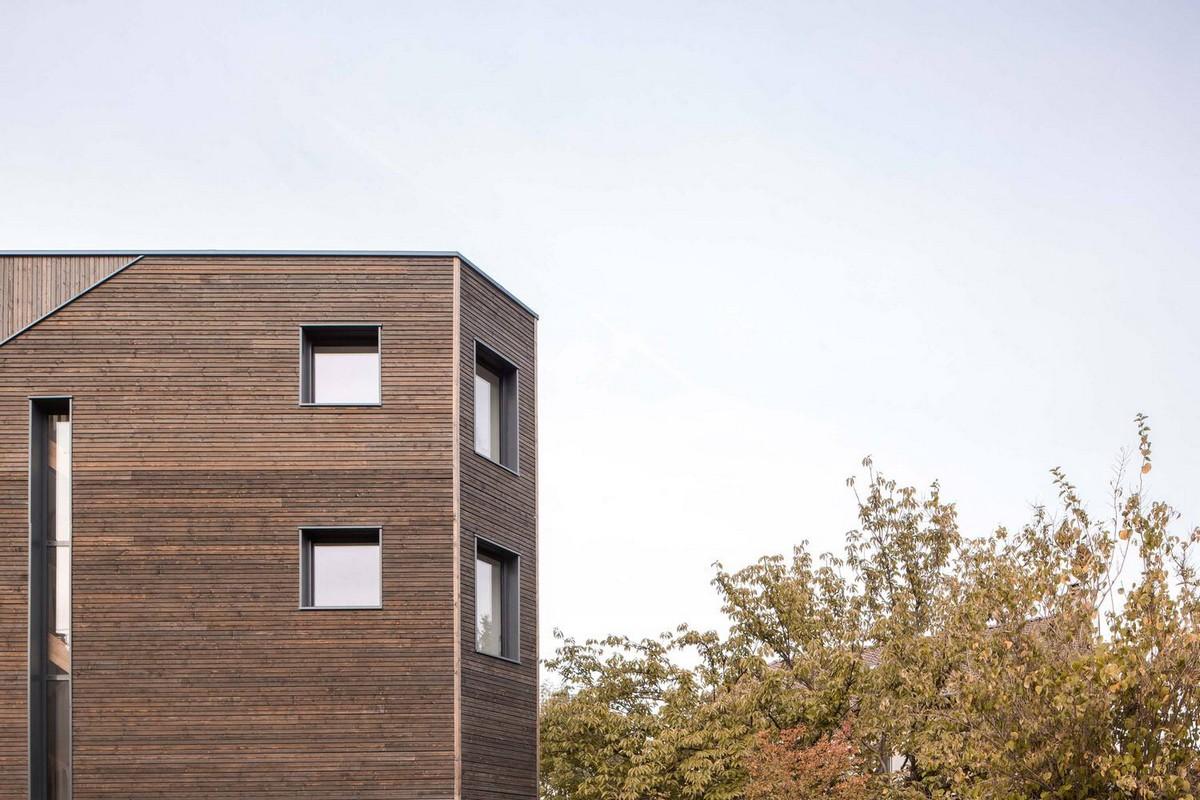 Семейный дом неправильной призматической формы во Франции