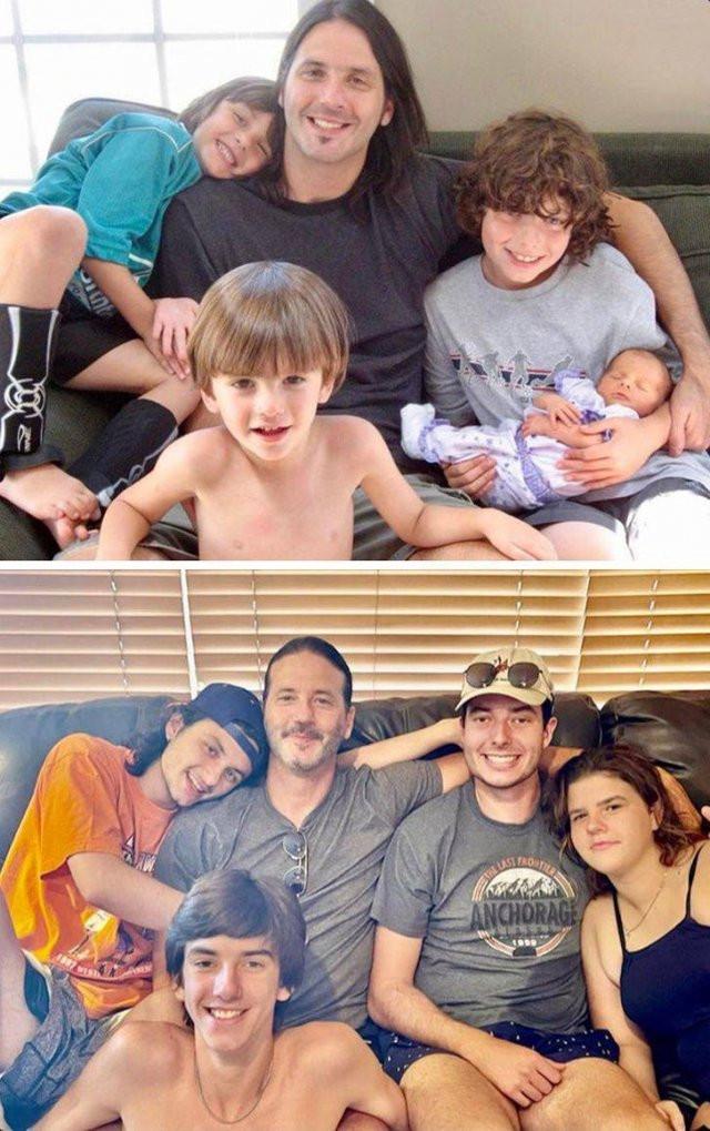 Они воссоздали старые семейные фотографии по-новому